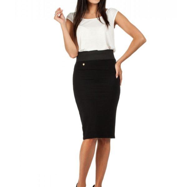 Dámská černá sukně s gumou v pase