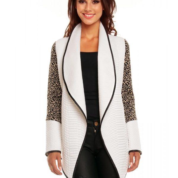 Elegantní bílo béžový svetr bez zapínání