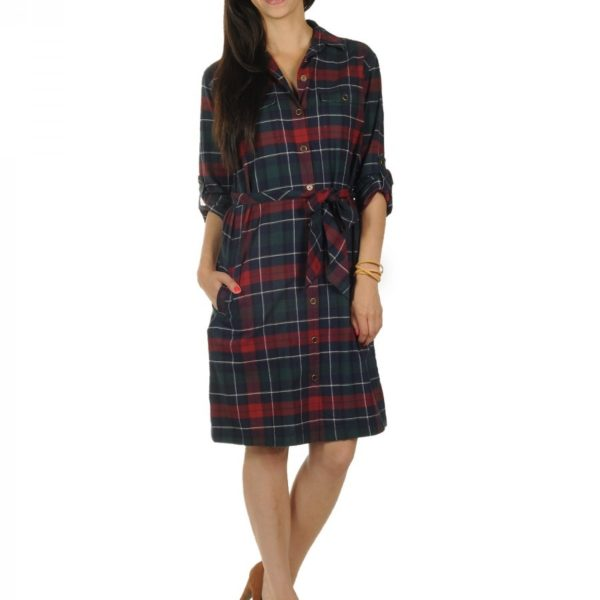 Luxusní dámské modro červené šaty Hilfiger