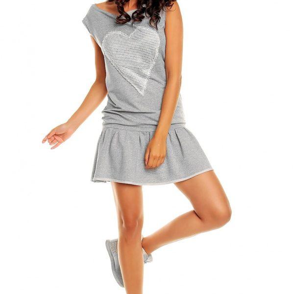Sportovní dámské šedé šaty bez rukávu