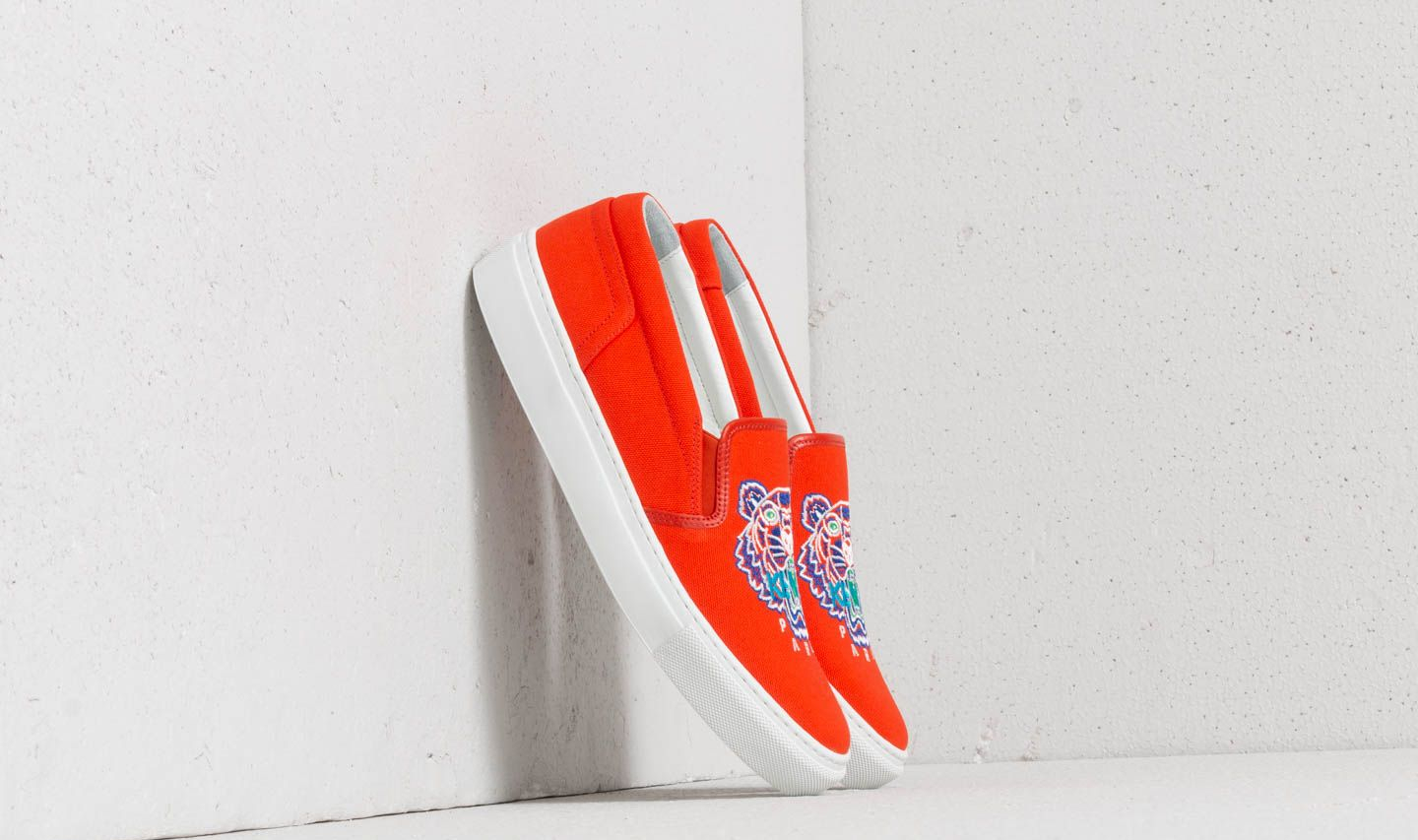 dd672c6ffb5 Kenzo K-Skate Tiger Sneakers Orange