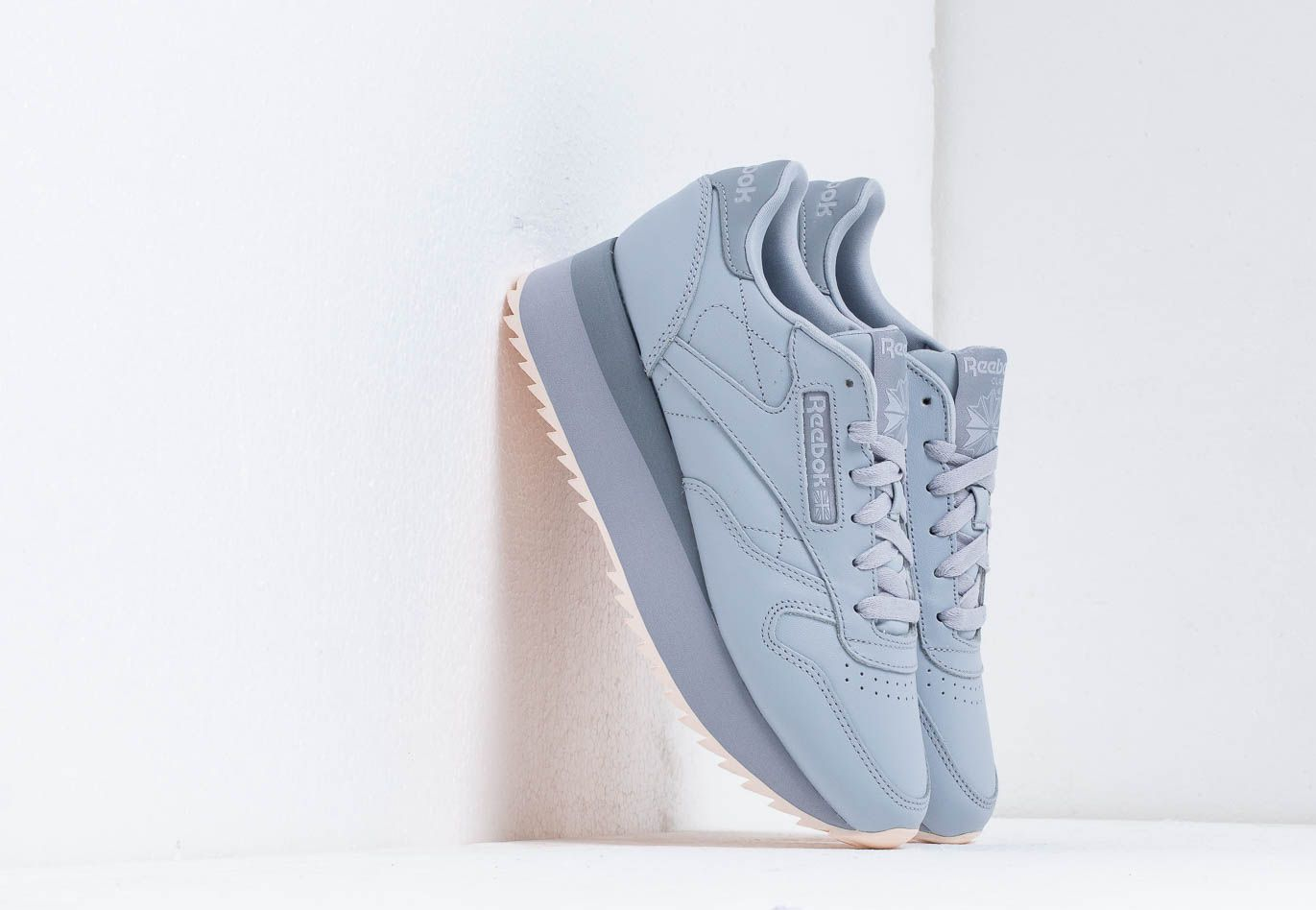 Reebok CL LTHR Double Cold Grey/ Cool Shadow