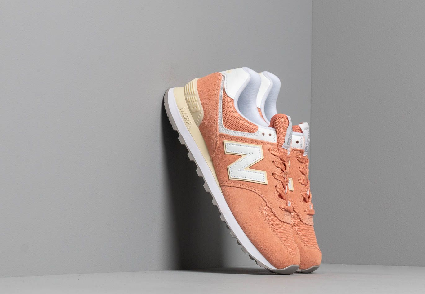 New Balance 574 Orange/ White