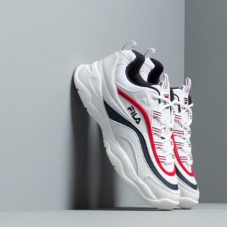 FILA Ray Low Wmn White/ FILA Navy/ FILA Red