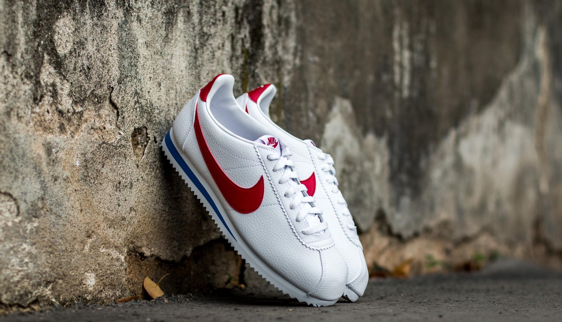 Nike Classic Cortez Leather White/ Varsity Red-Varsity Royal