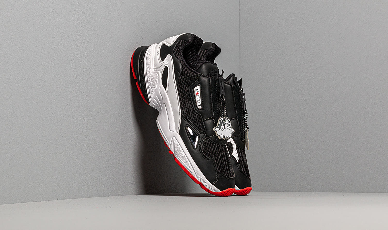 adidas x Fiorucci Falcon Zip W Core Black/ Ftw White/ Red