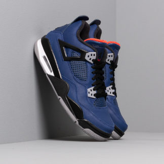 Air Jordan 4 Retro Wntr Bg Loyal Blue/ Black-White-Habanero Red