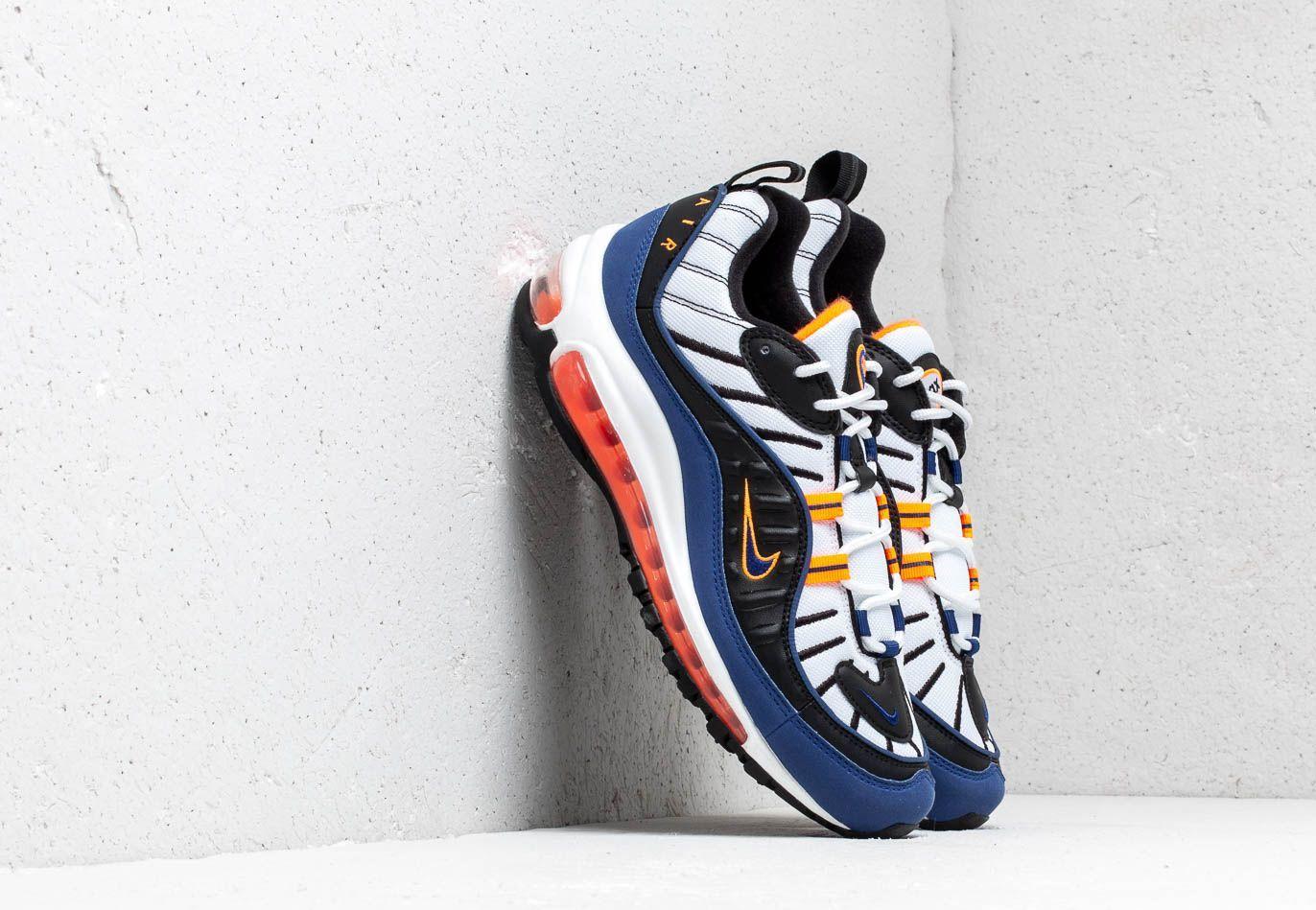 Nike Air Max 98 White/ Deep Royal Blue-Total Orange-Black CD1536-100