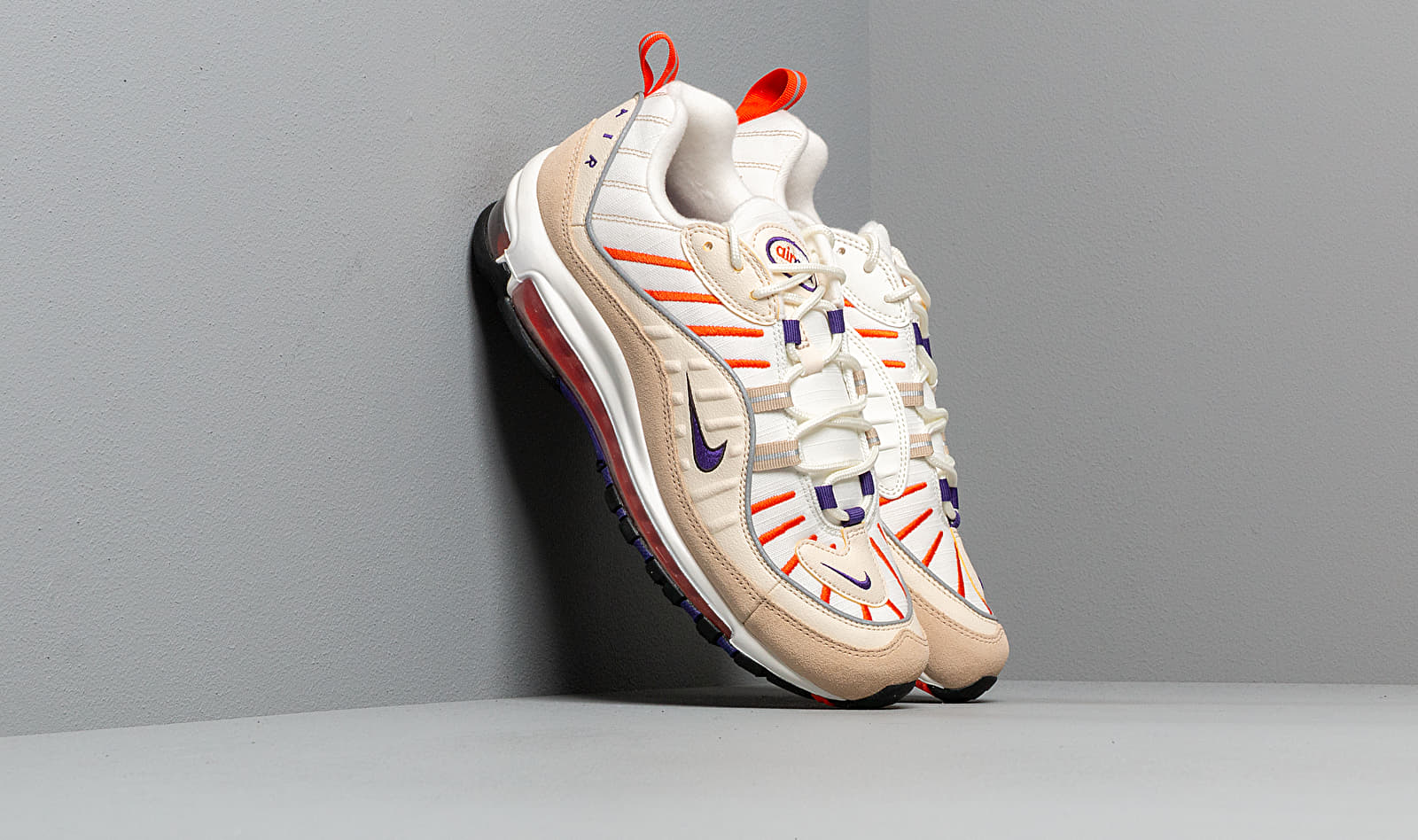 Nike Air Max 98 Sail/ Court Purple-Light Cream-Desert Ore 640744-108