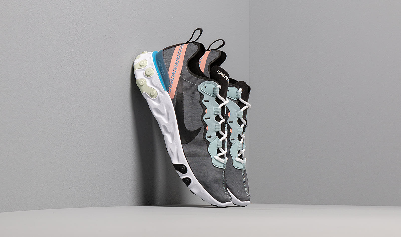 Nike React Element 55 Ocean Cube/ Black-Pink Quartz-Blue Hero BQ6166-300