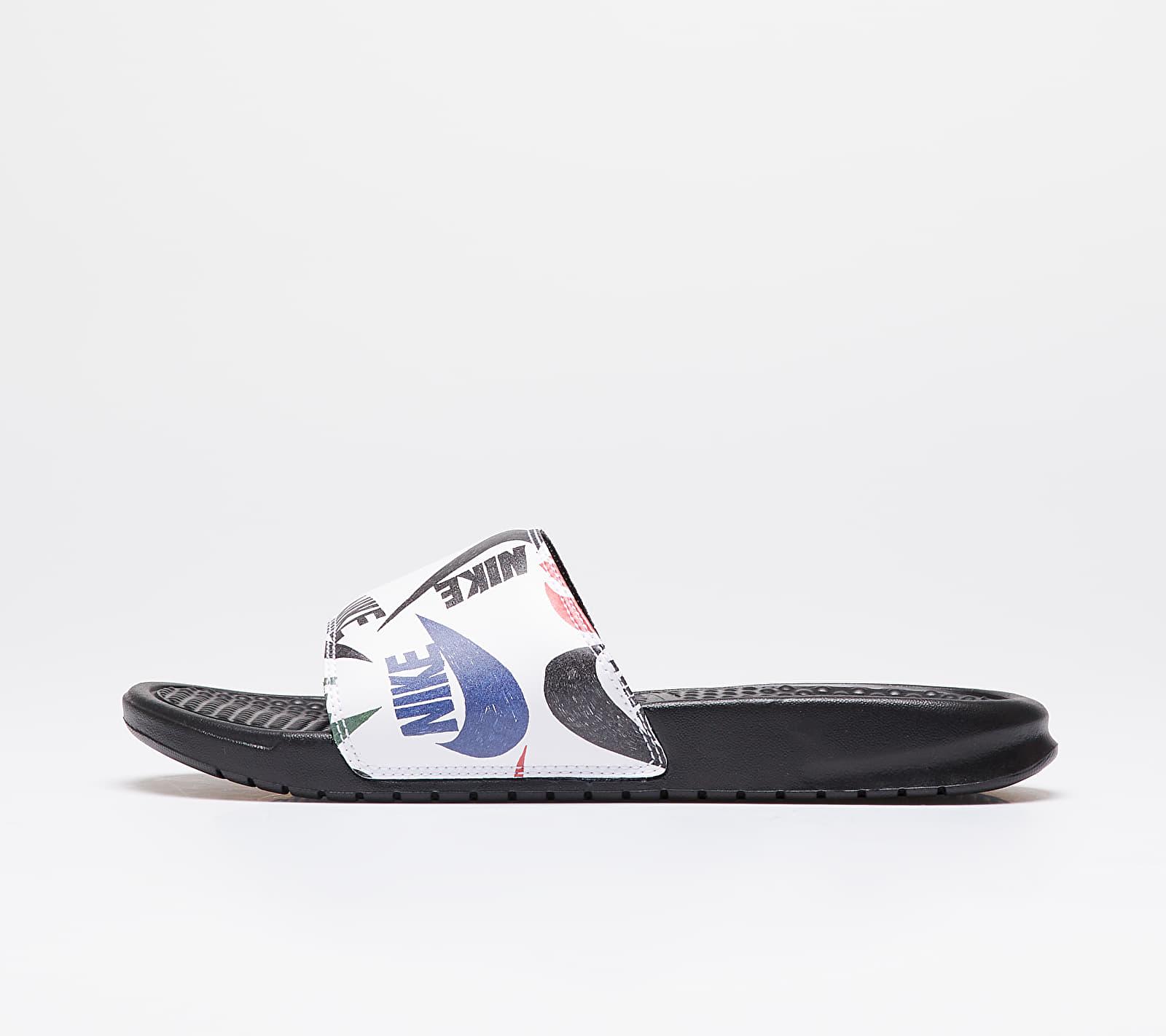 Nike Benassi Jdi Print Black/ Black-White-Multi-Color 631261-035