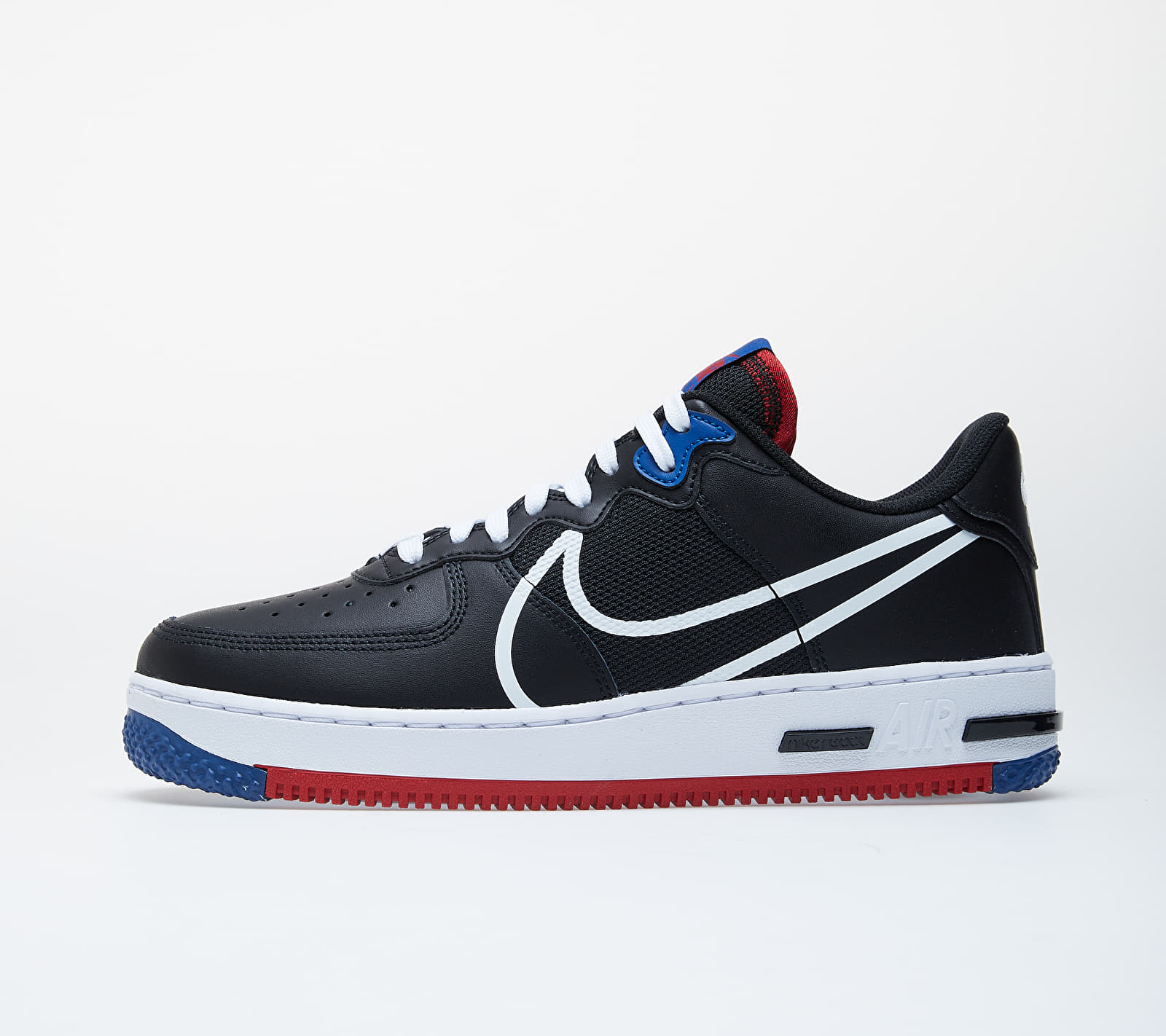 Nike Air Force 1 React Black/ White-Gym Red-Gym Blue CT1020-001