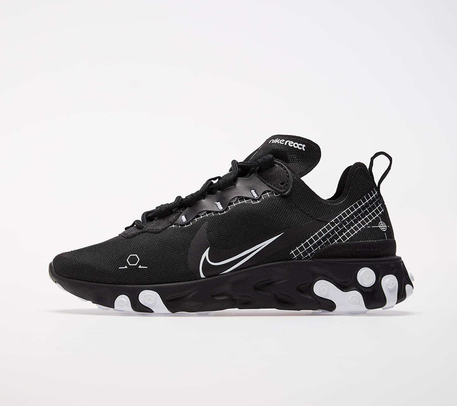Nike React Element 55 Black/ White CU3009-001