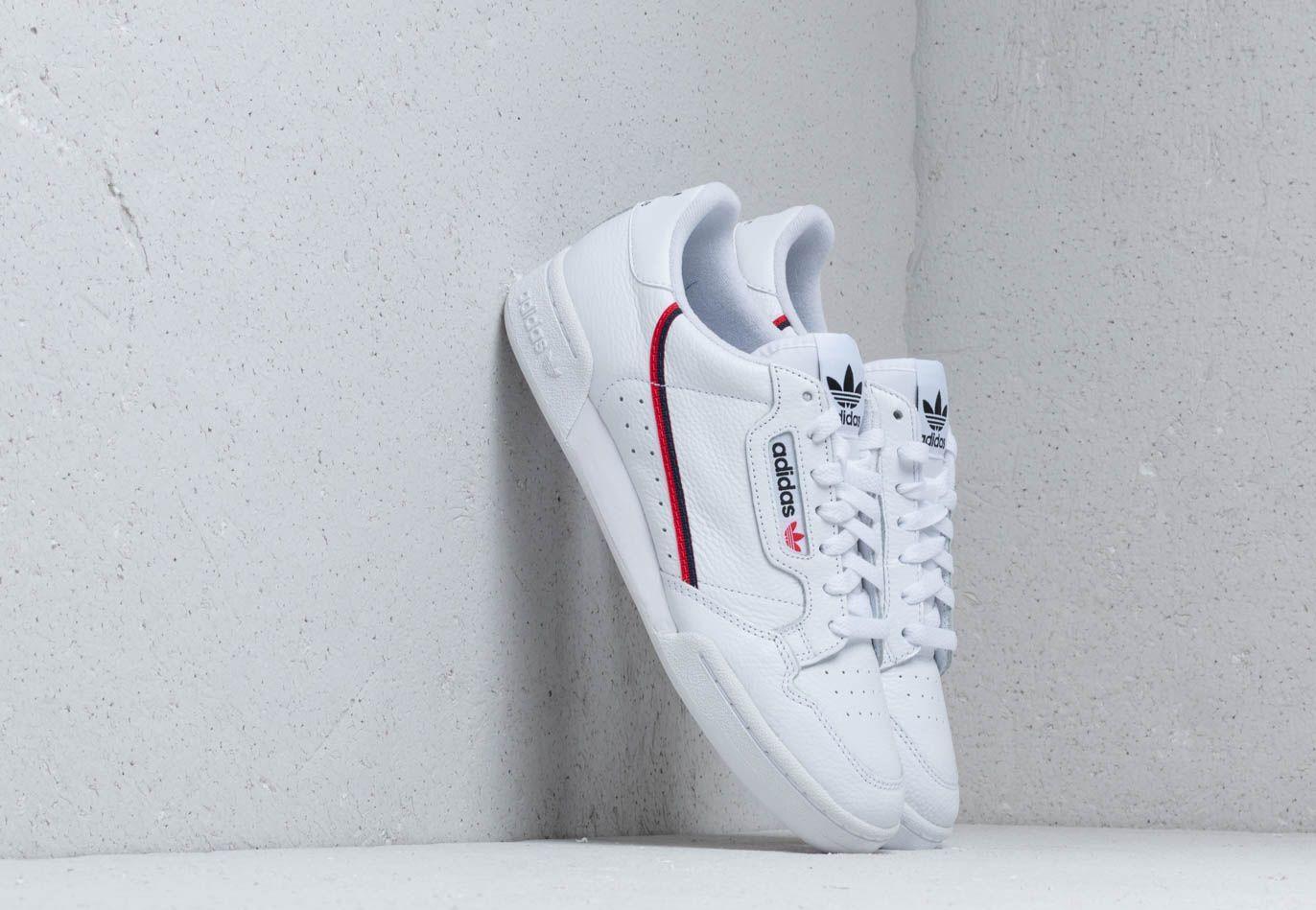 adidas Continental 80 Cloud White/ Scarlet/ Collegiate Navy G27706
