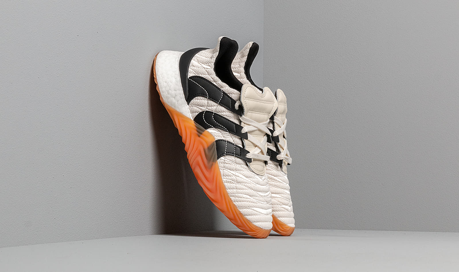 adidas Sobakov Boost Core White/ Core Black/ Clear Ochre BD7674