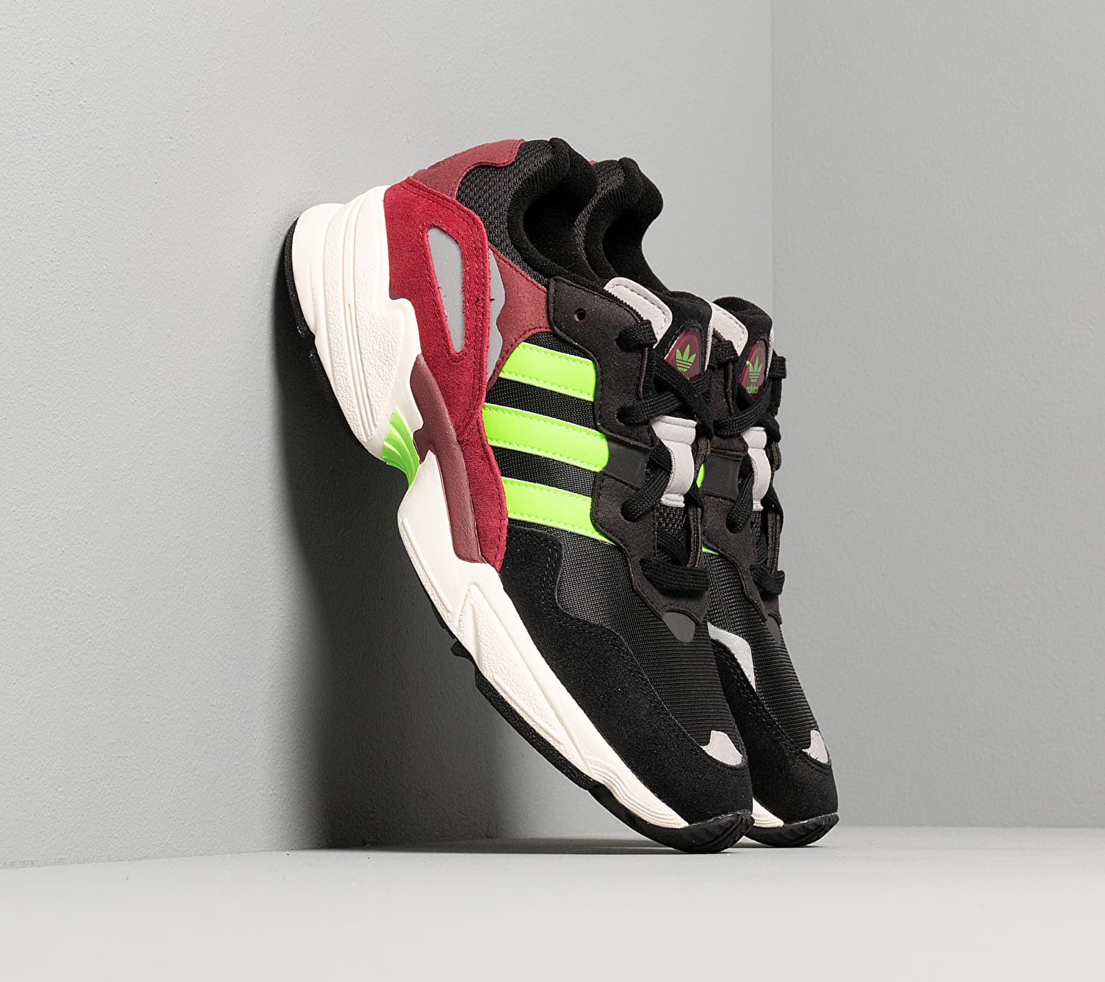 adidas Yung-96 Core Black/ Semi Green/ Core Burgundy EE7247