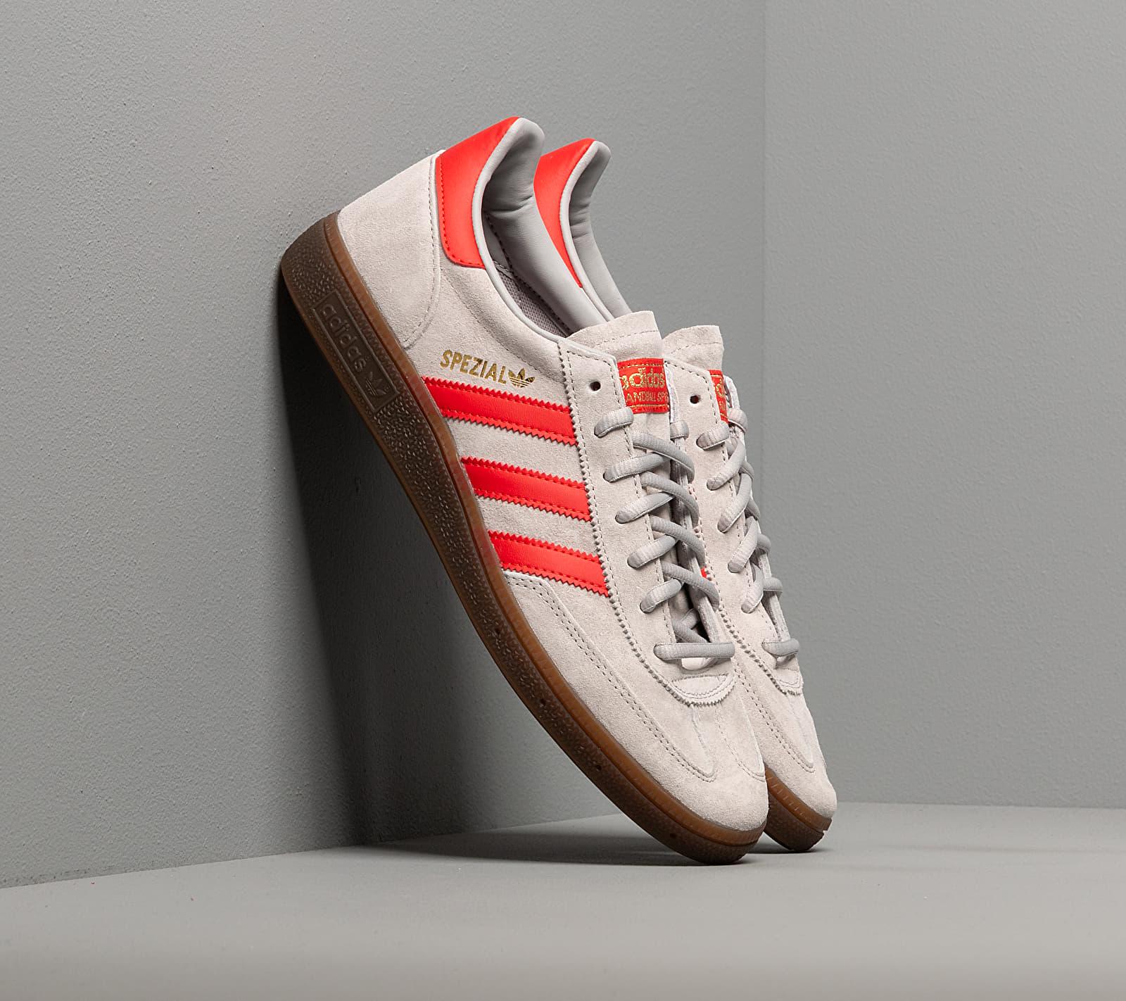 adidas Handball Spezial Grey Two/ Hi-Res Red/ Gold Metalic EF5747