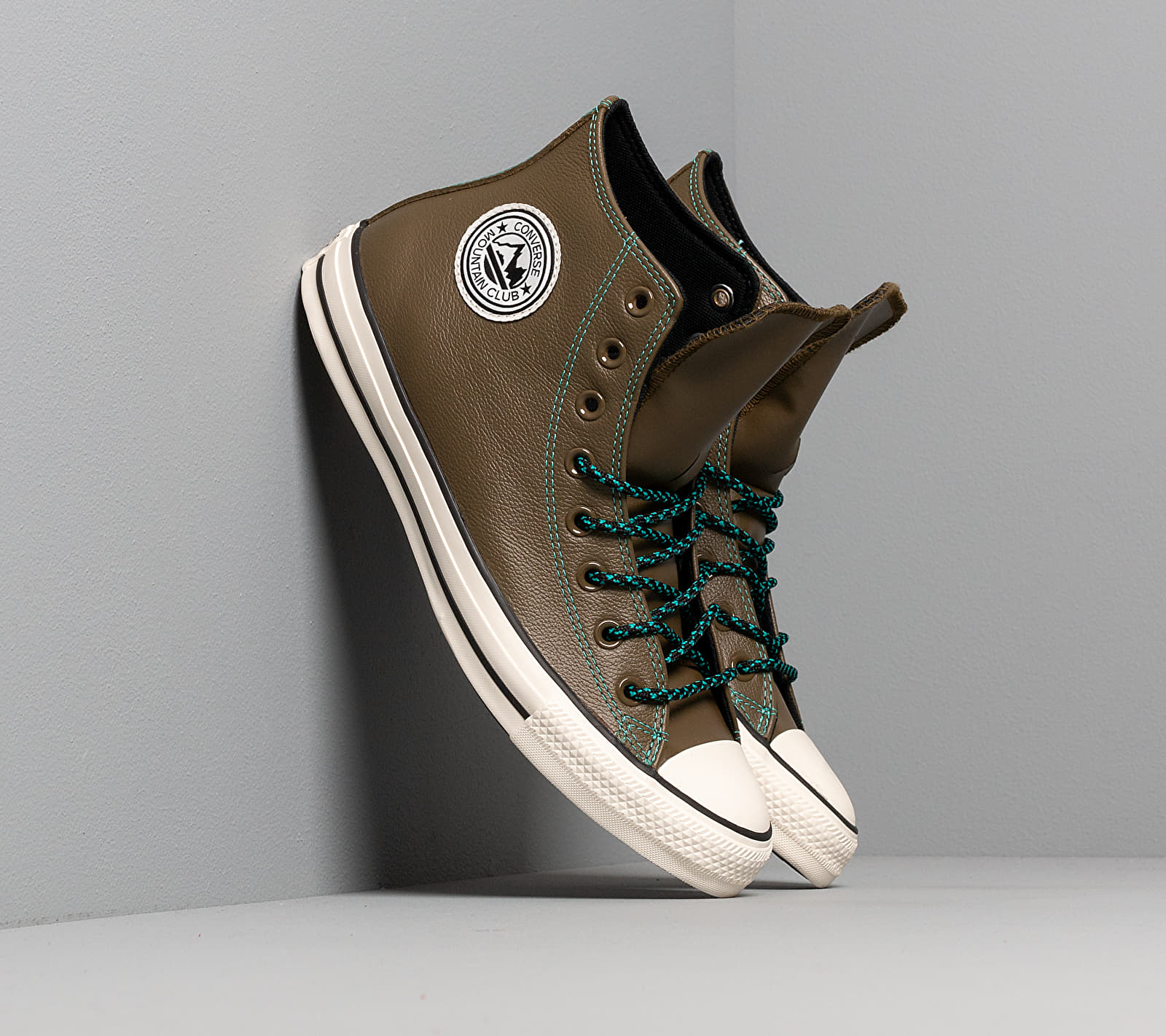 Converse Chuck Taylor All Star Archival Leather Surplus Olive/ Turbo Green/ Egre 165957C