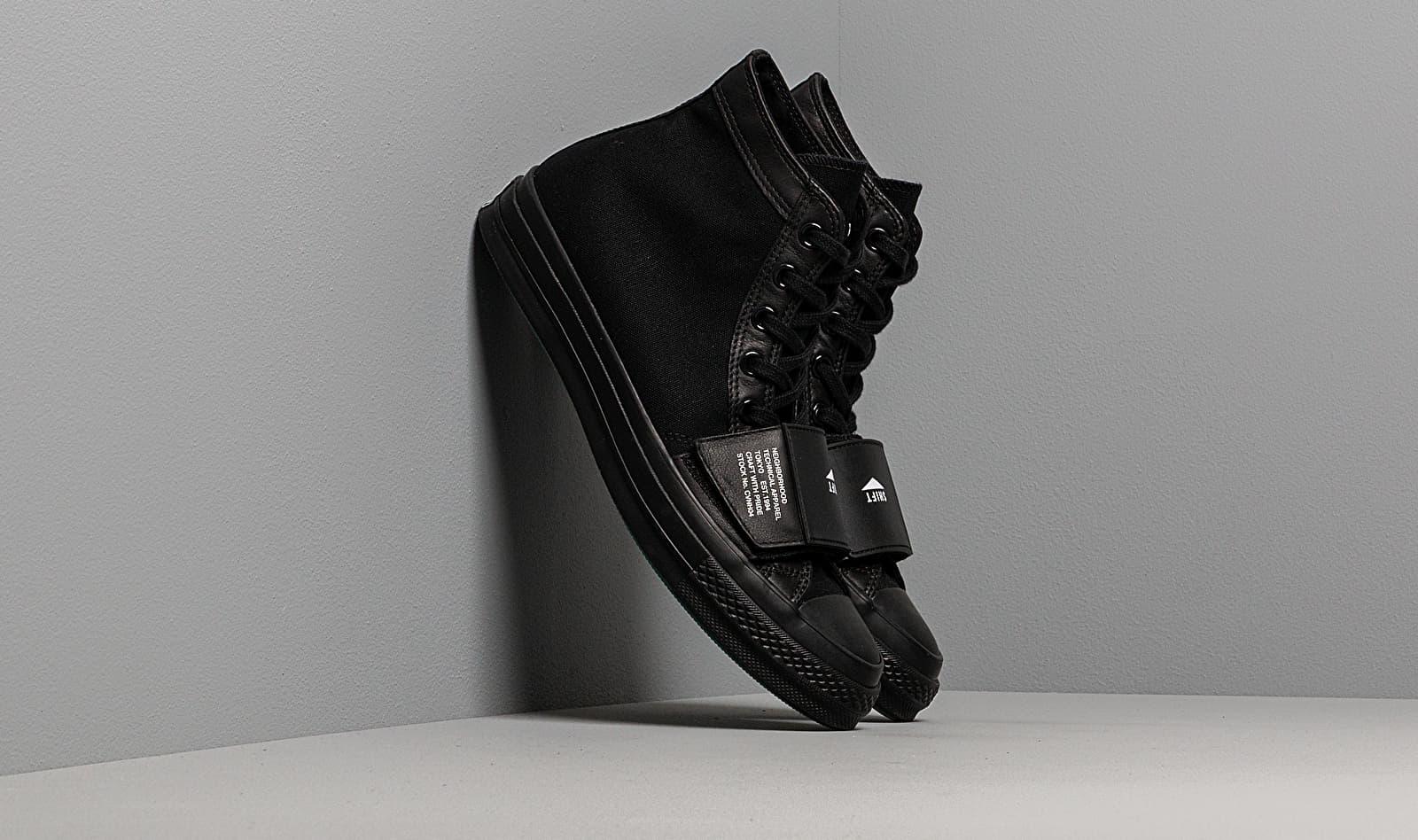 Converse x Neighborhood Chuck 70 Moto Black/ Black/ Black 165603C