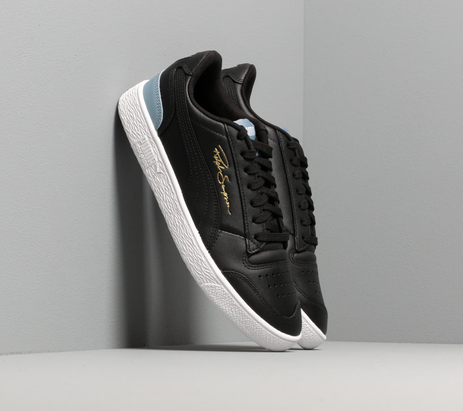 Puma Ralph Sampson LOW Puma Black-Puma Black-Faded Denim 37084605