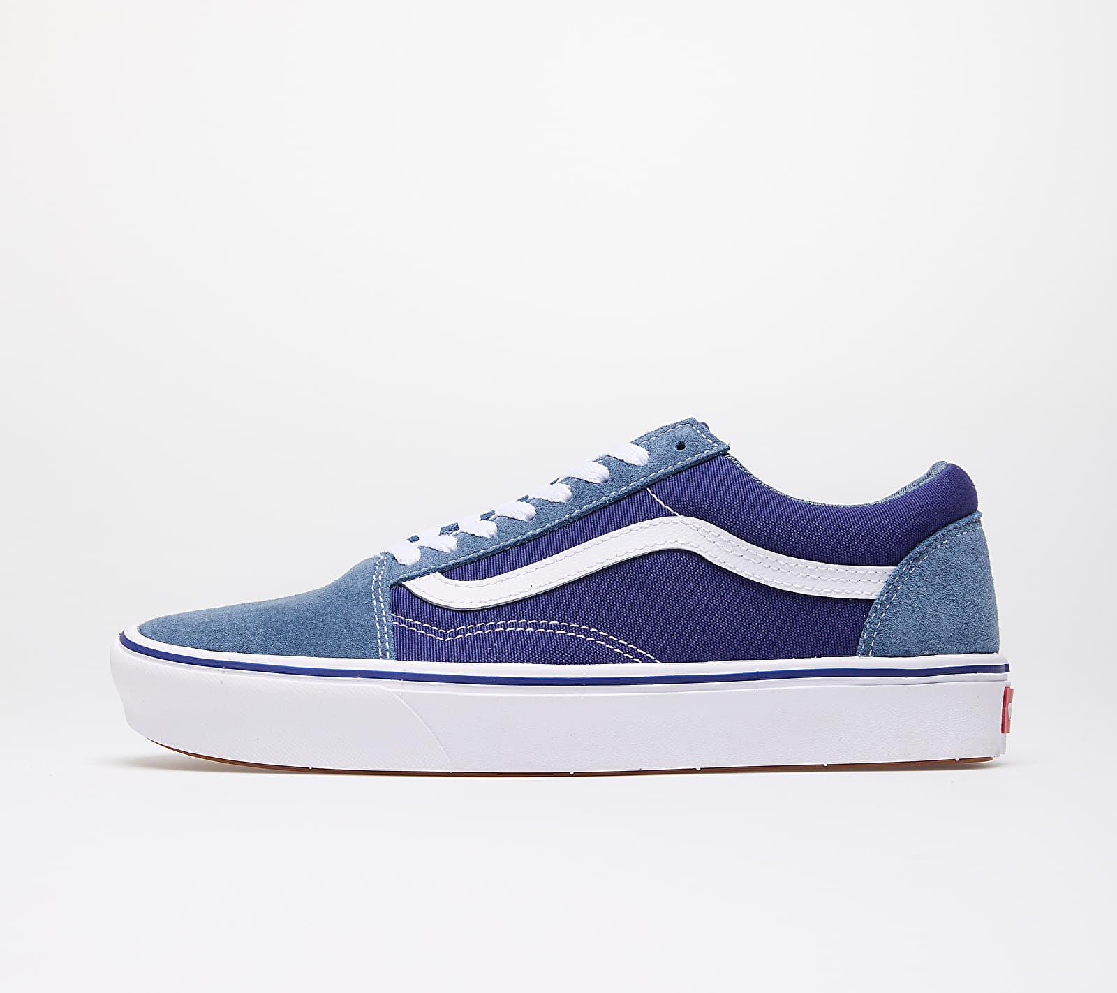 Vans ComfyCush Old Skool (Suede/ Textile) Denim/ Blue VN0A3WMAWX01