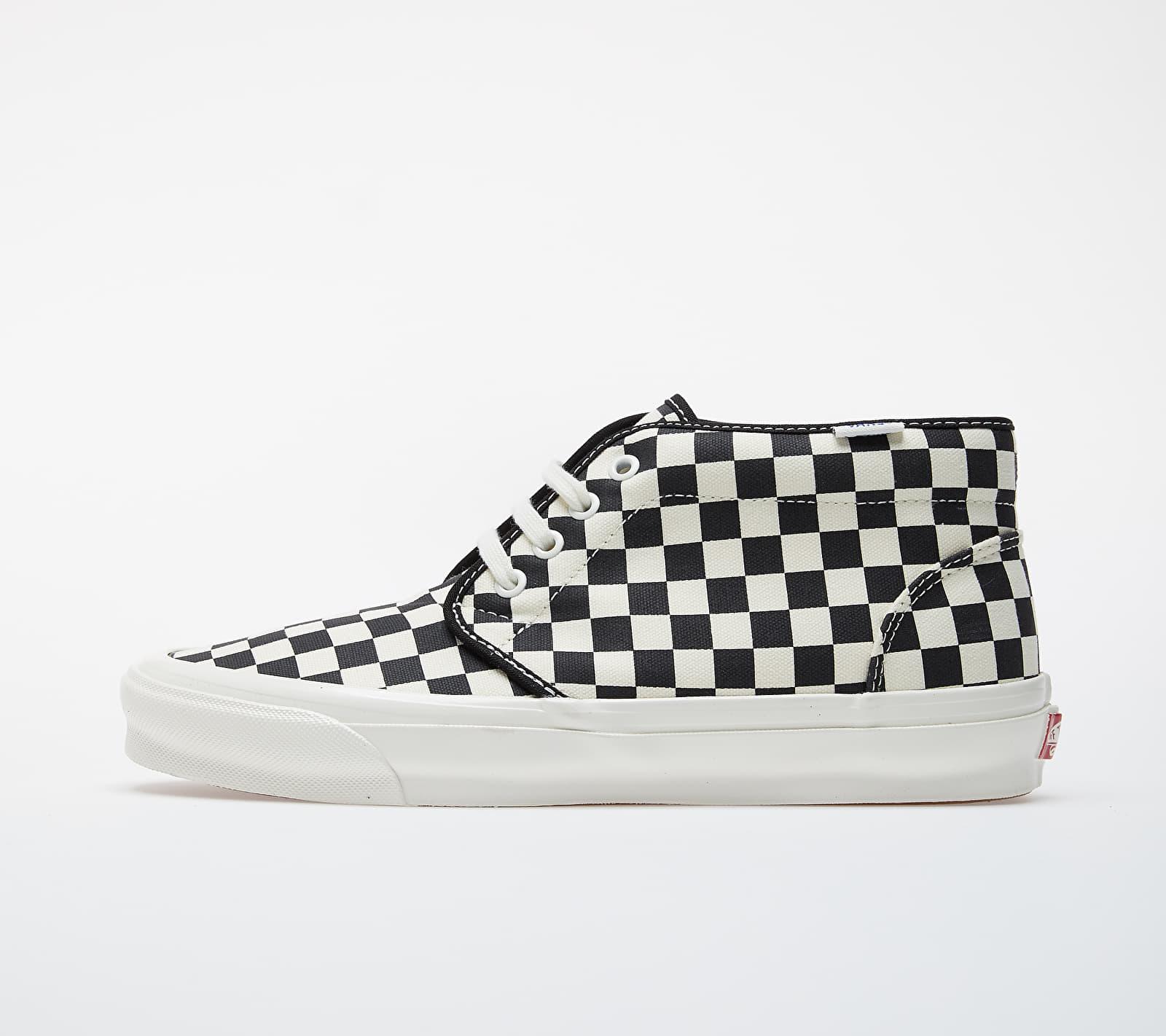 Vans OG Chukka LX (Canvas/ Checkerboard) Black/ White VN0A4U3GXC81