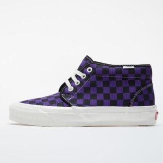 Vans OG Chukka LX (Canvas/ Checkerboard) True Purple/ Grey/ Marshmallow VN0A4U3GXC91