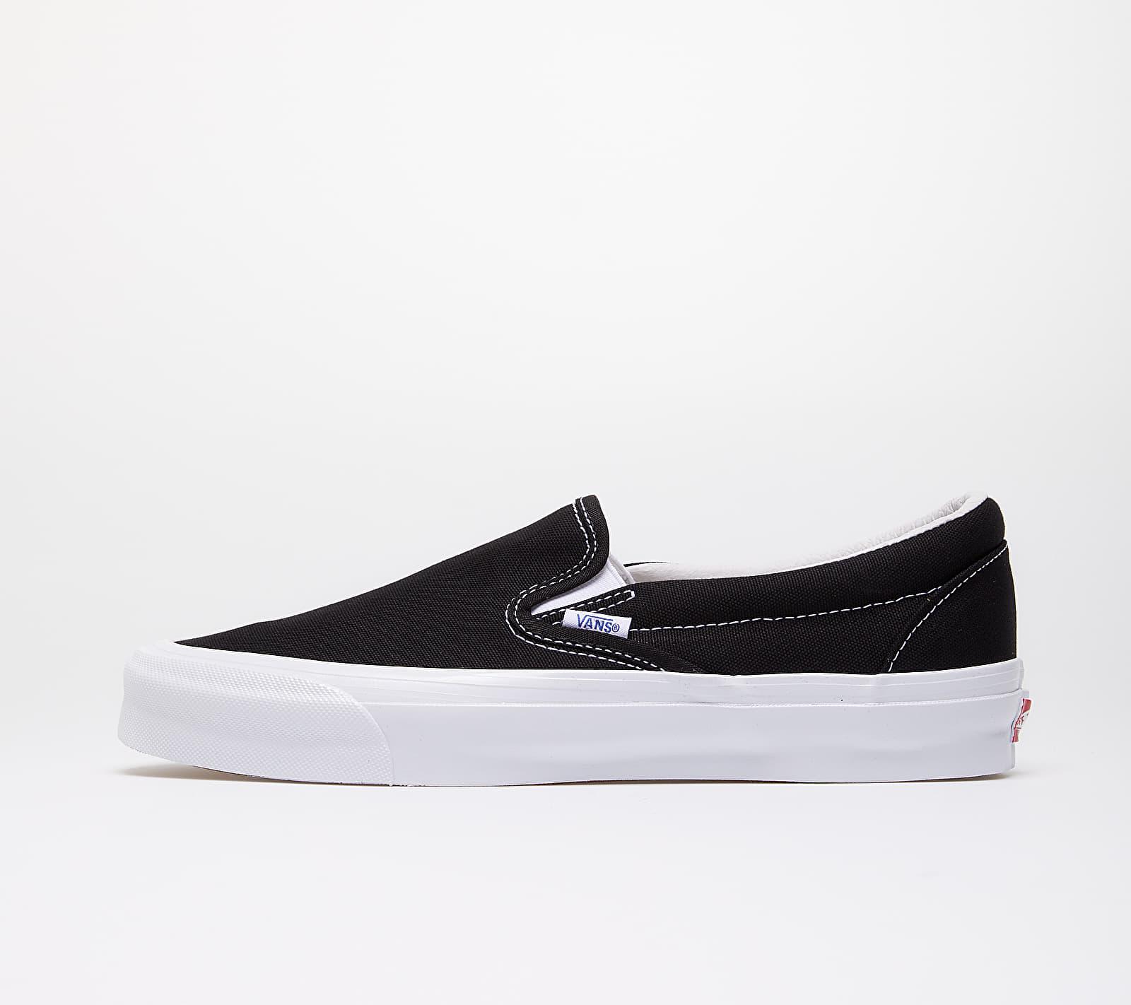 Vans OG Classic Slip-On (Canvas) Black/ True White VN0A45JK1WX1