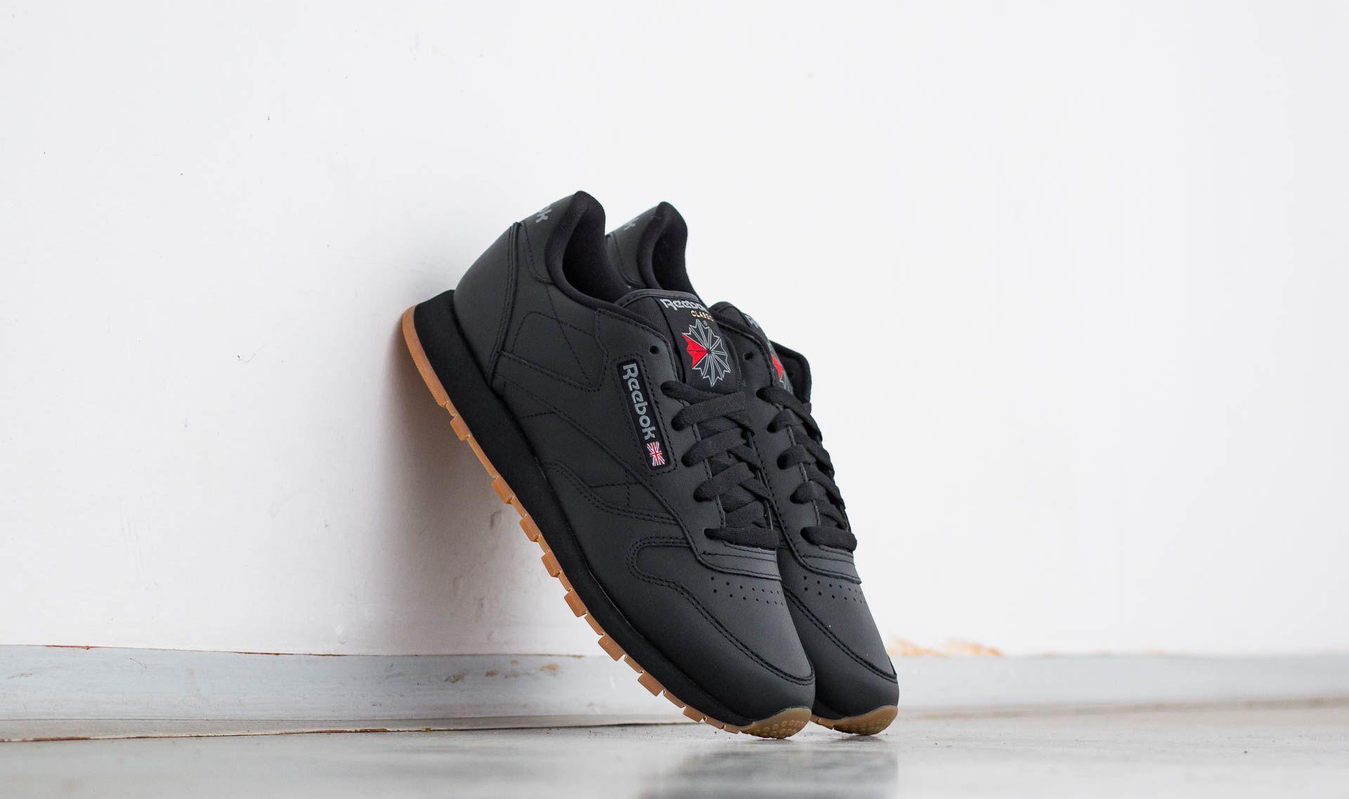 Reebok Classic Leather Black/ Gum 49804