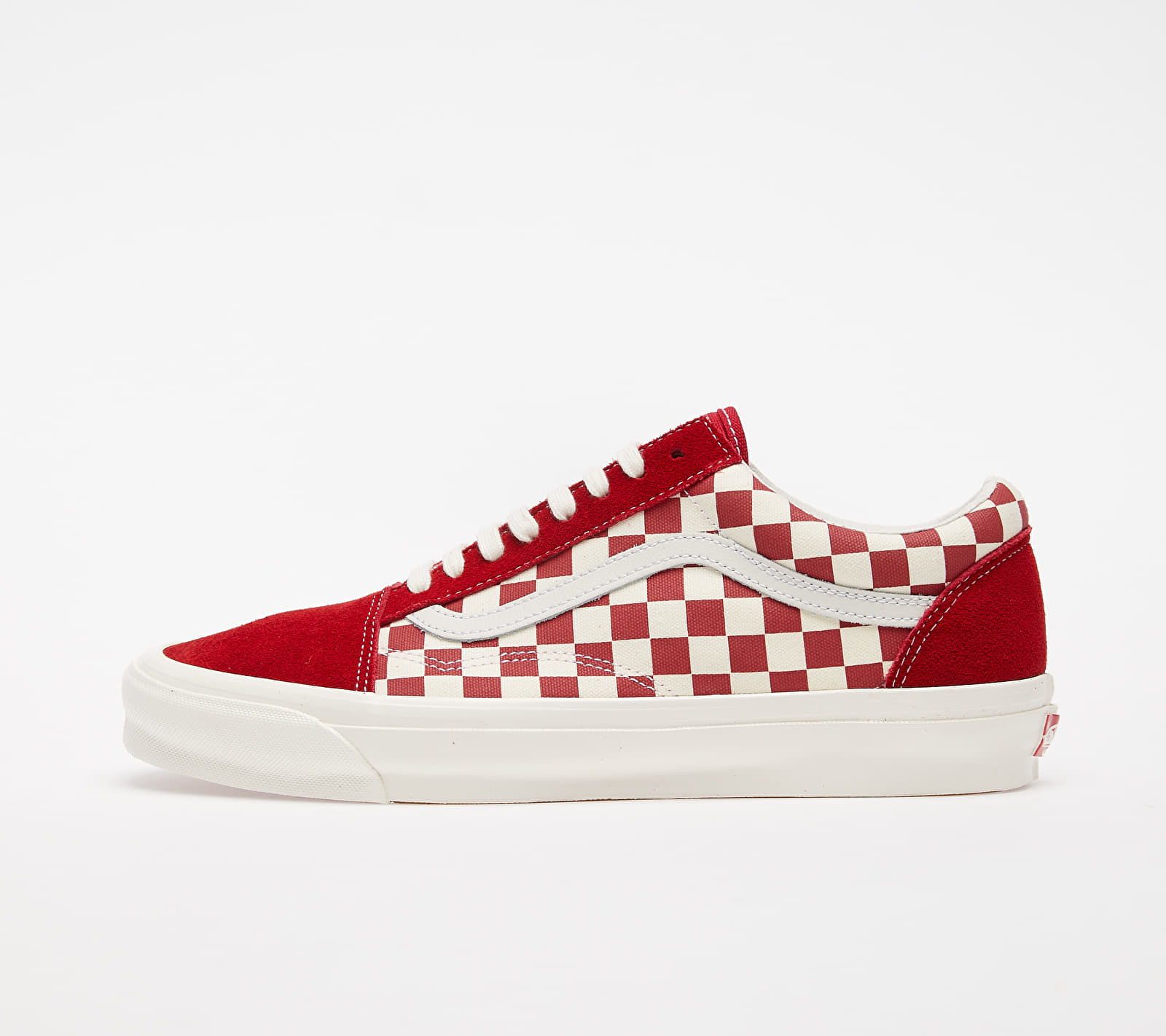 Vans OG Old Skool LX (Suede/ Canvas) Checkerboard Red/ White VN0A4P3XXEK1