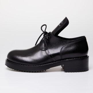 Raf Simons Laced Up Shoe Men Black Cow Leather 42 201-939M-40053-00099