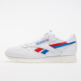 Reebok Classic Leather White/ Instinct Red/ Dynamic Blue FV2108