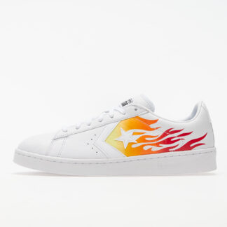 Converse Pro Leather OX White/ Bold Mandarin/ Enamel Red 167935C