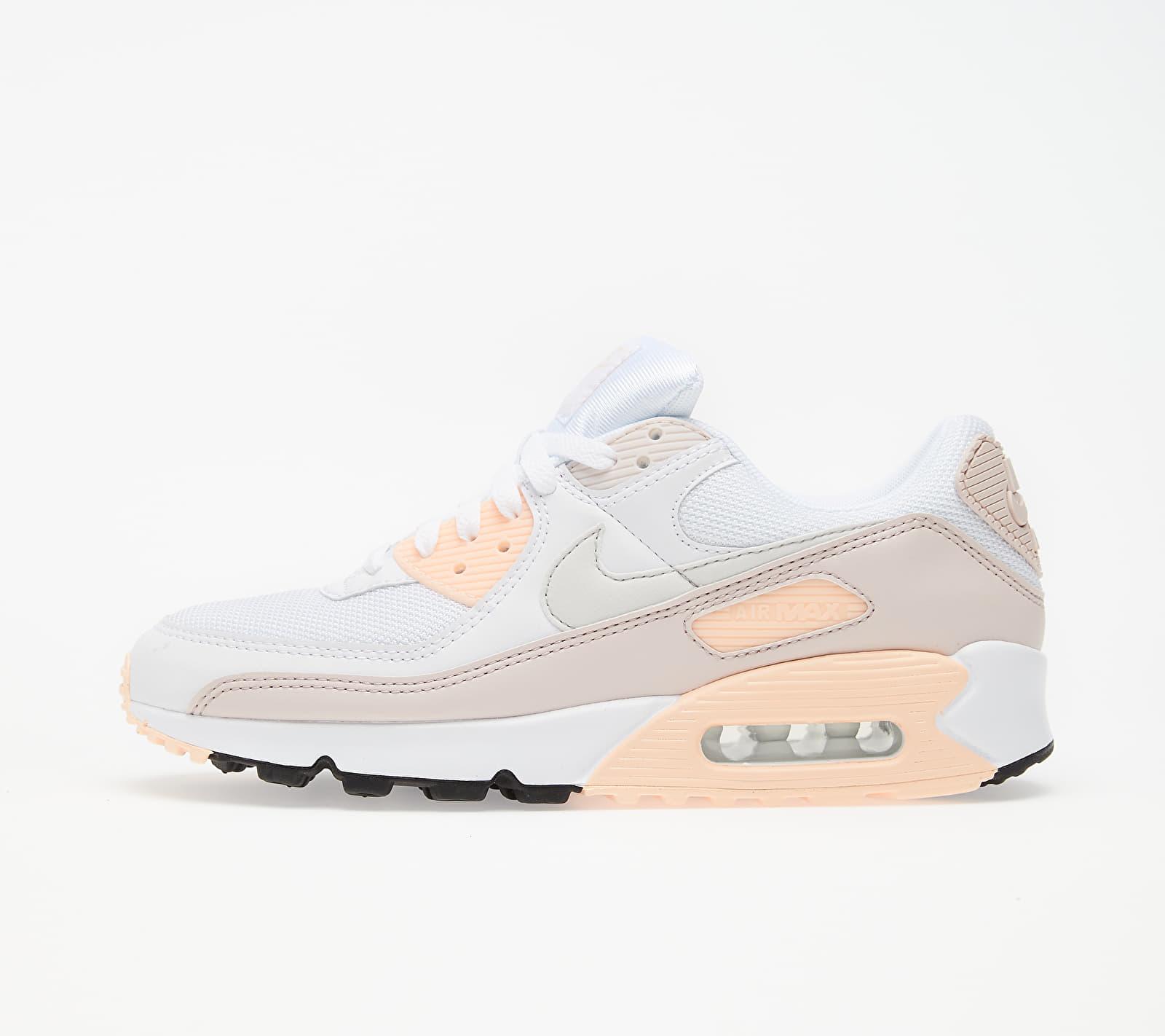Nike W Air Max 90 White/ Platinum Tint-Barely Rose CT1030-101