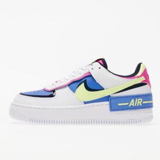 Nike W Air Force 1 Shadow White/ Barely Volt-Sapphire-Fire Pink CJ1641-100