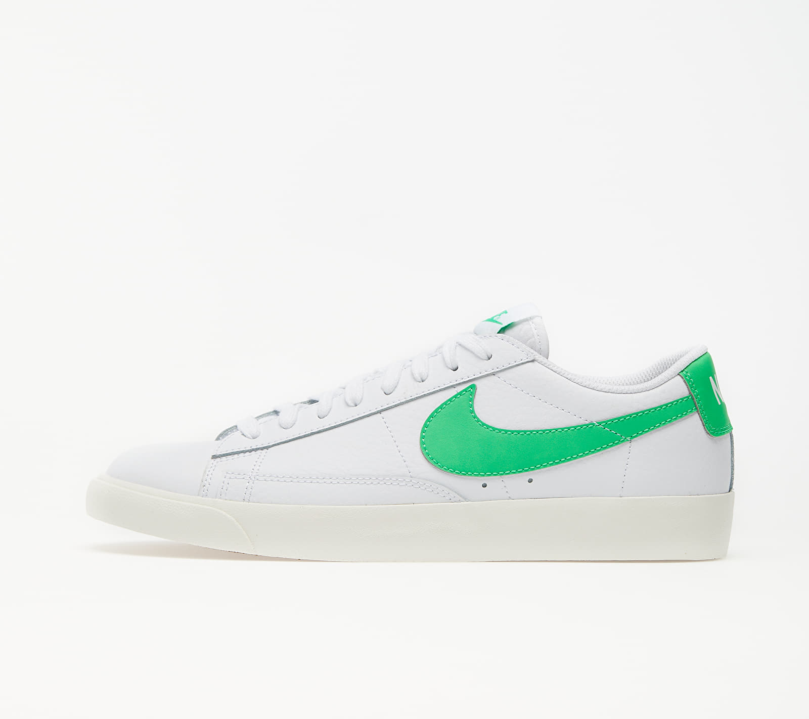 Nike Blazer Low Leather White/ Green Spark-Sail CI6377-105