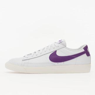 Nike Blazer Low Leather White/ Voltage Purple-Sail CI6377-103