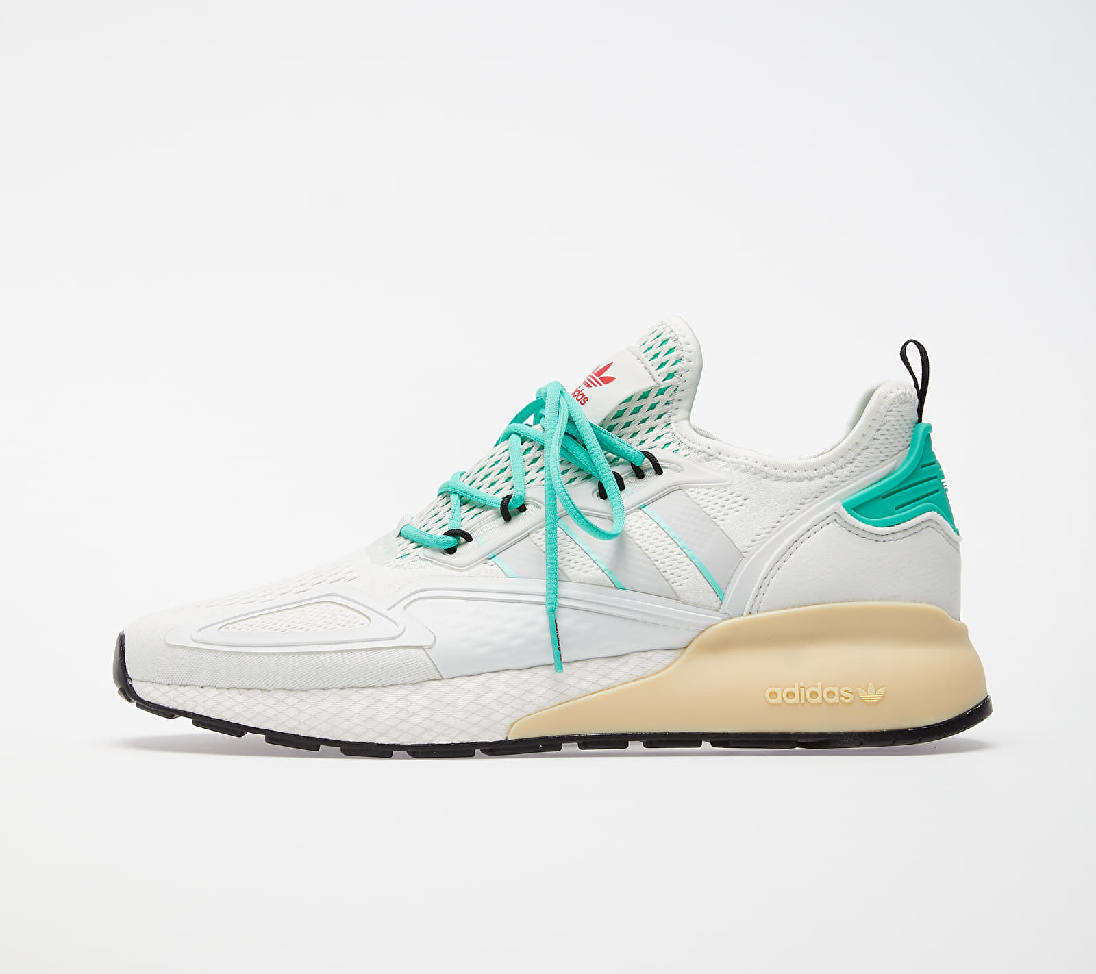 adidas ZX 2K BOOST Crystal White/ Grey One/ Hi-Res Green FX4172