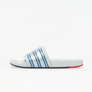 adidas Adilette Premium Clear Grey/ Light Blue/ Bright Red FX4410