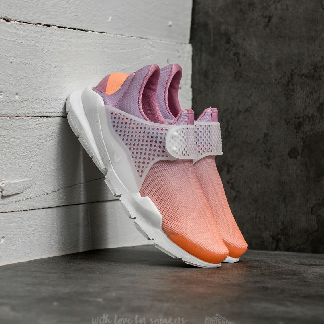Nike Wmns Sock Dart Br Sunset Glow/ White-Orchid 896446-800