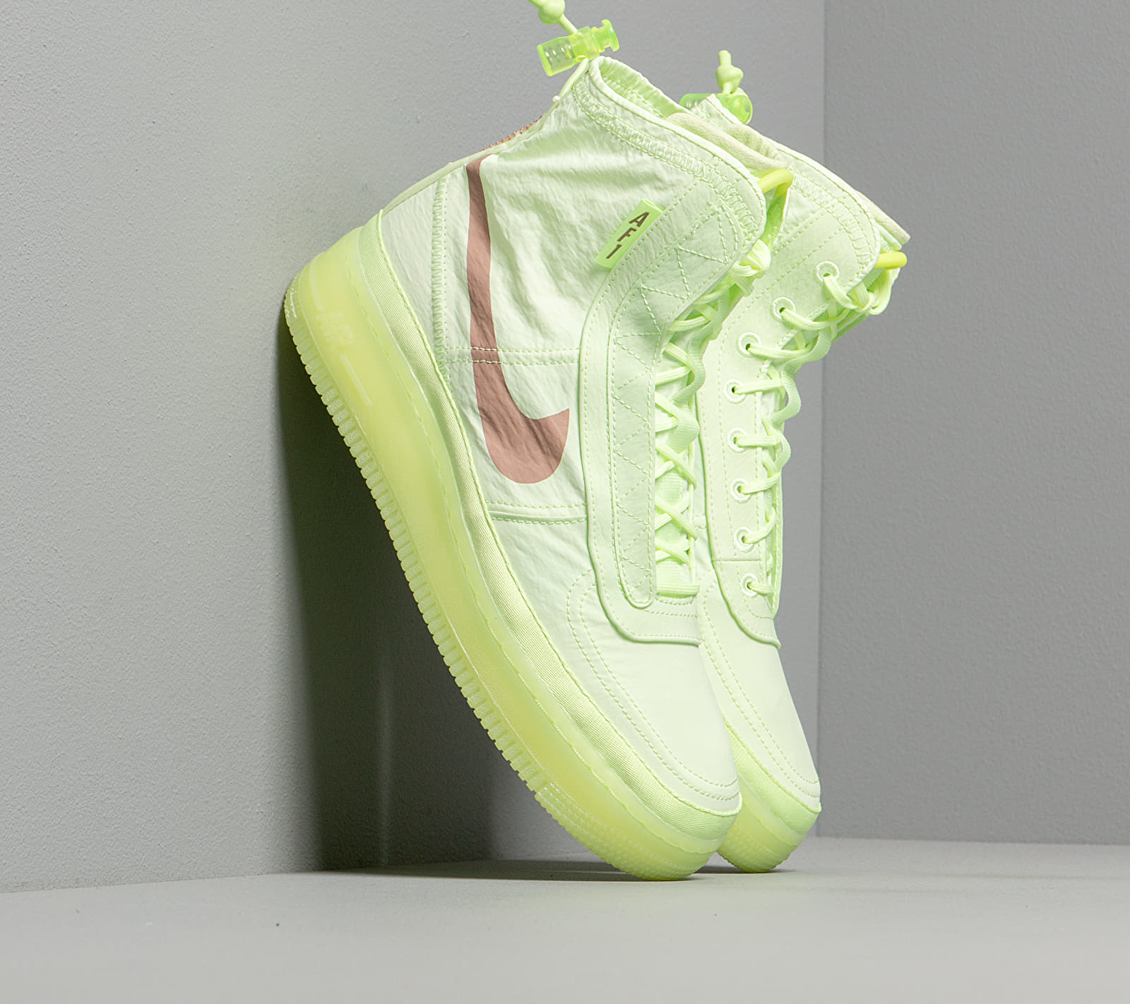 Nike W Air Force 1 Shell Barely Volt/ Desert Dust-Barely Volt BQ6096-700