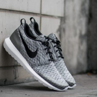 Nike Roshe NM Flyknit SE Wolf Grey/ Black- White 816531-002 Z13