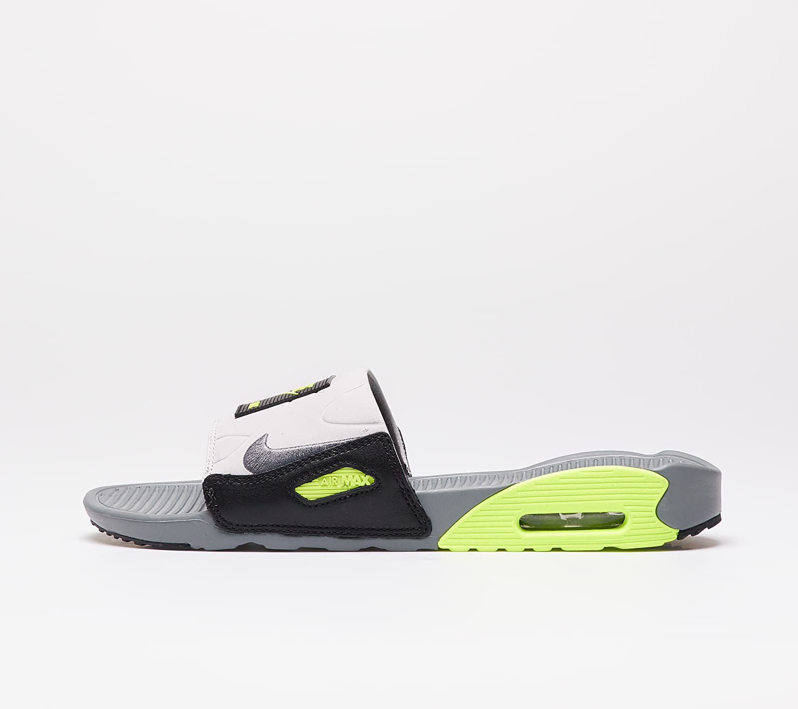 Nike Air Max 90 Slide Smoke Grey/ Smoke Grey-Volt-Black BQ4635-001