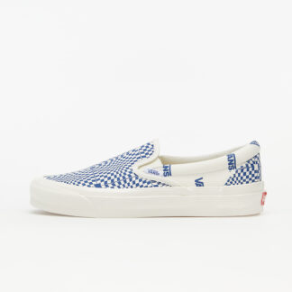 Vans OG Classic Slip-On (Canvas) Optical Checkerboard Blue/ Marshmallow VN0A45JK1ZQ1