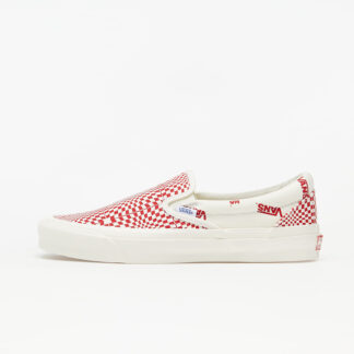 Vans OG Classic Slip-On (Canvas) Optical Checkerboard Red/ Marshmallow VN0A45JK1ZL1