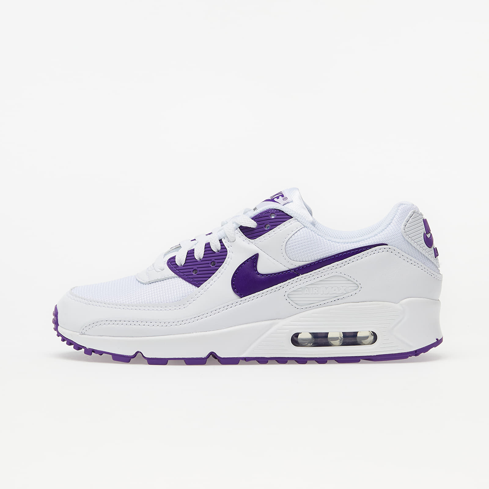 Nike Air Max 90 White/ Voltage Purple-Black CT1028-100
