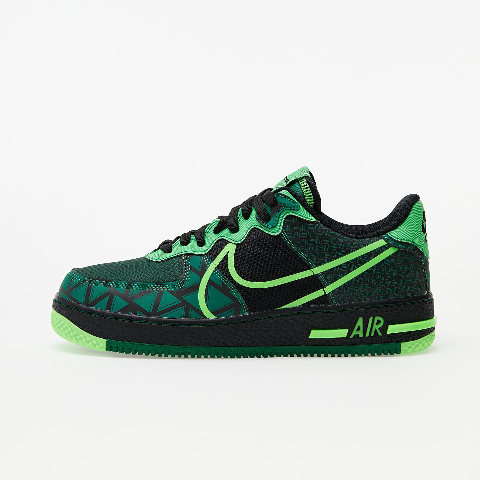 Nike Air Force 1 React QS Black/ Green Strike-Pine Green CW3918-001