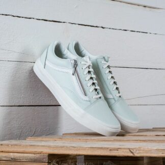 Vans Old Skool Zip (Leather) Zephyr Blue/ Blanc De Black 93MRI
