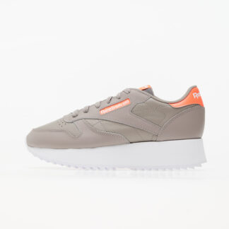 Reebok Classic Leather Double Boulder Grey/ Orange Flare / White FY7265