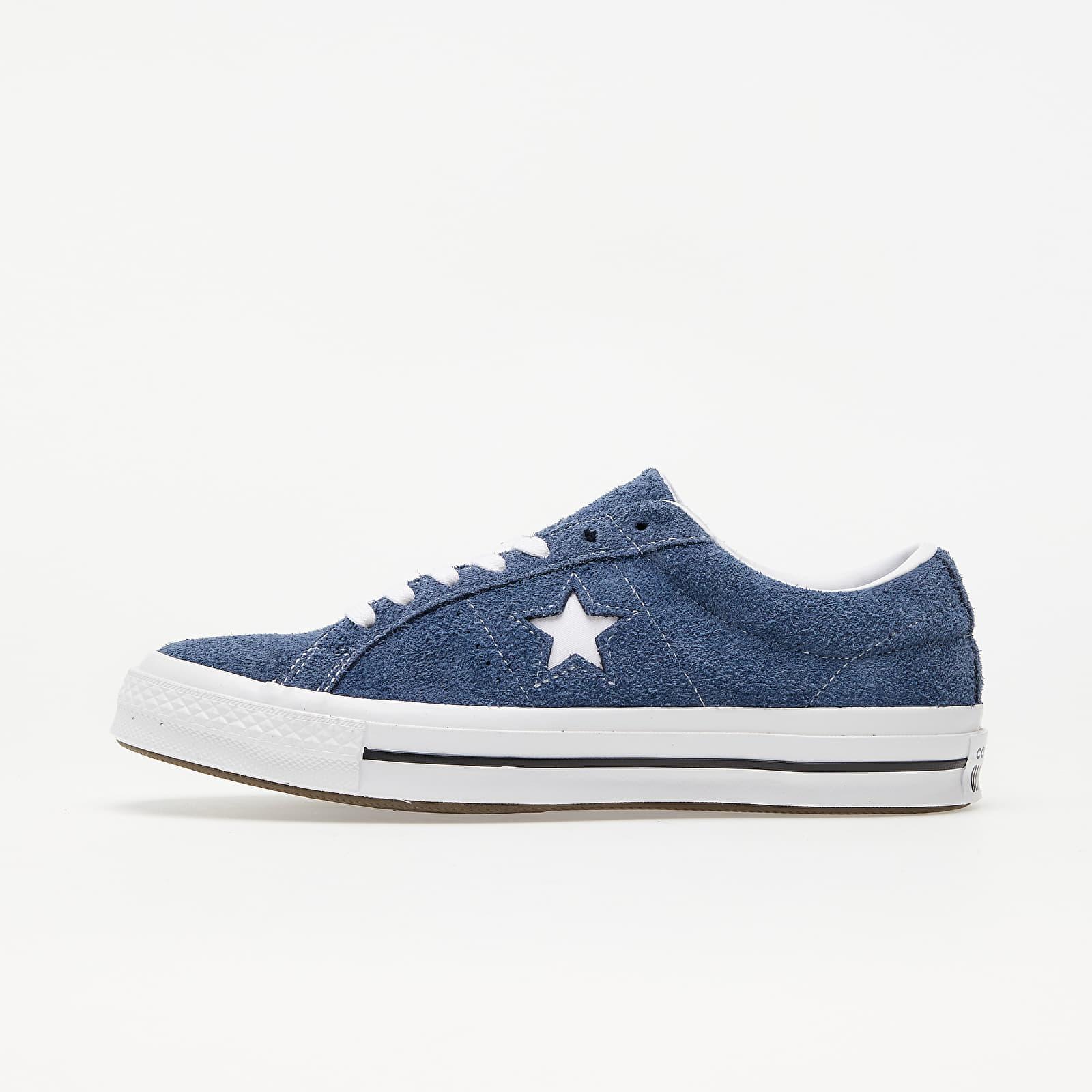 Converse One Star OX Navy/ White/ White 158371C